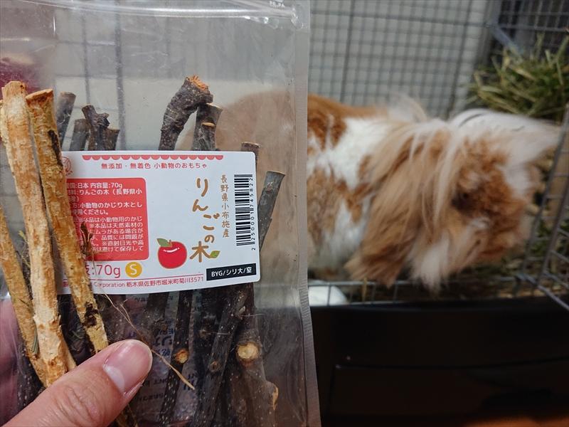 ウサギさんにおすすめ第1位!長野県小布施産 りんごの木 細枝