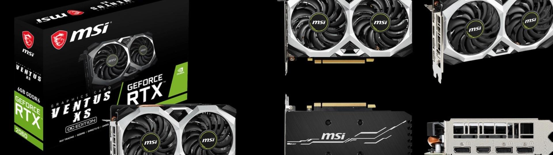AviUtlにオススメPCスペック:GPU MSI GeForce RTX 2060 VENTUS XS 6G OC