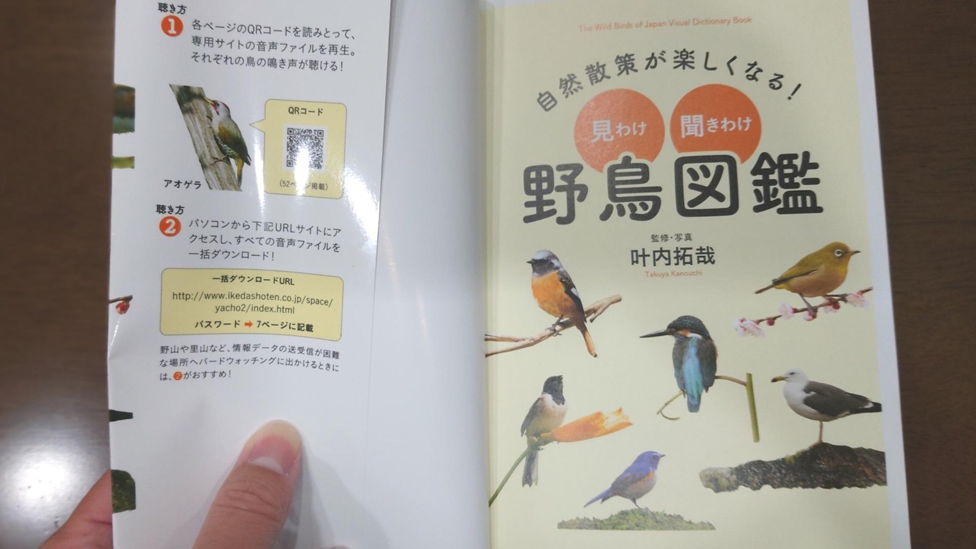 鳥の鳴き声解説がついていて、QRコードを読み込めばすぐに鳴き声を聞くことができます。 身近な野鳥も多く載っているので、子どもだけでなく大人も楽しめます!
