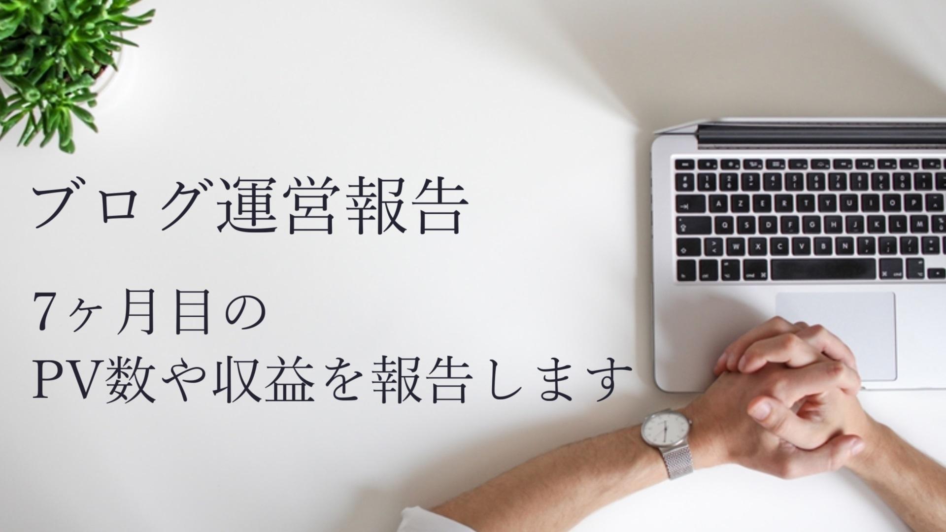 【運営報告】雑記ブログ7ヶ月目のPV数や収益等を公開
