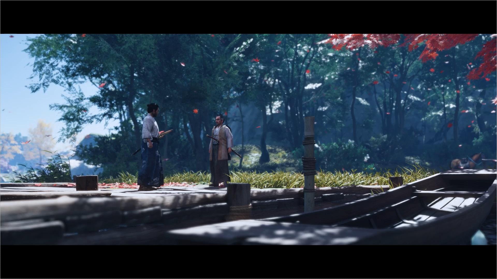 青海の湖で志村殿と会う仁。