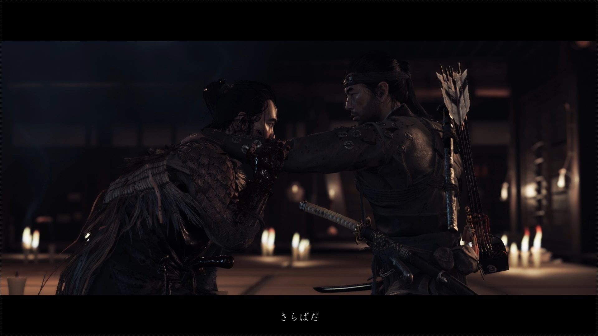 死闘の末、竜三を倒した仁。よき友であった竜三を自らの手で葬るその手が震えます。