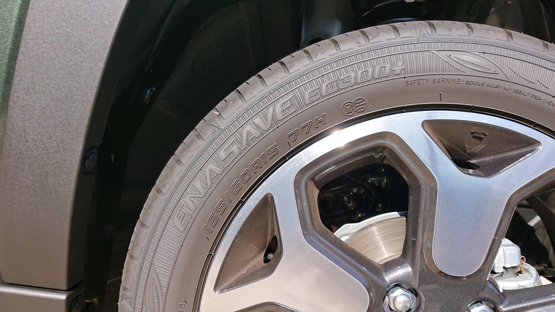 ハスラー純正タイヤサイズ165/60R15