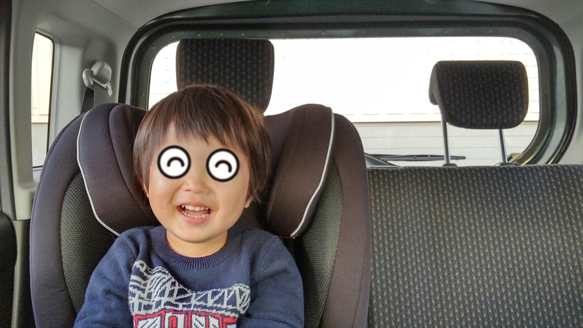 大好きなハスラーに乗れてニッコリ笑顔!